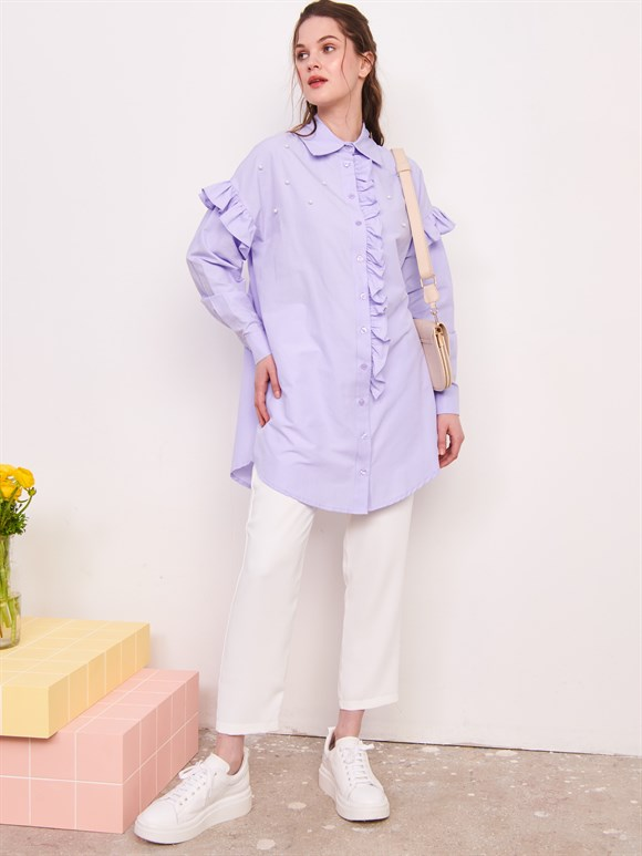 Tunic with Pearl Lilac