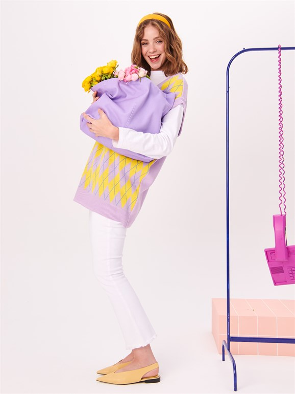 Sweater Lilac - Yellow