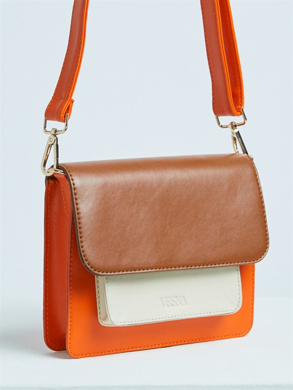 BELLA SPECİAL BAG BEIGE-ORANGE