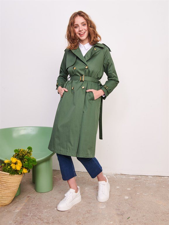 Marina Trench Coat Green