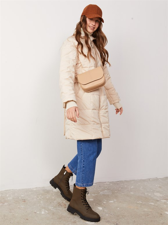 MARS QUILTED COAT BEIGE