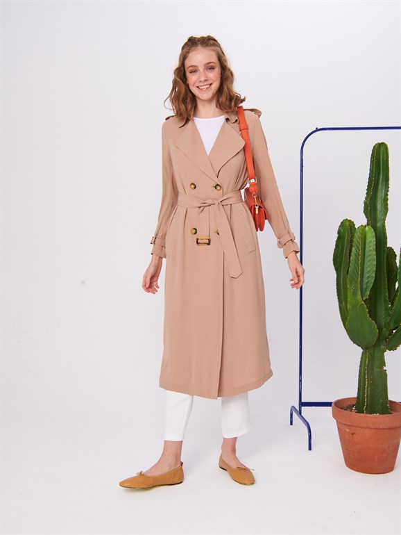 Spring Trench Coat Camel