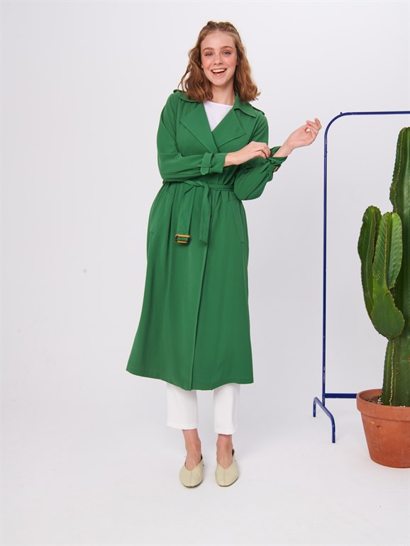 Spring Trench Coat Green