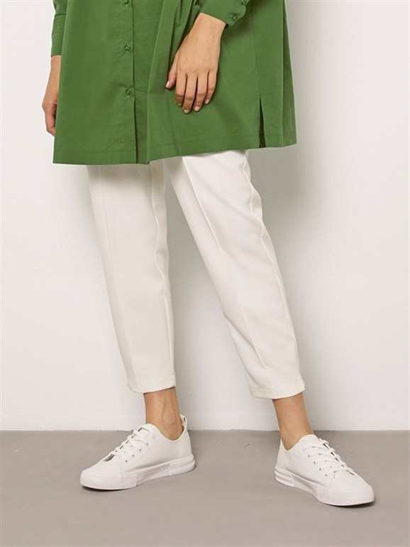 OLİV  TROUSERS WHİTE