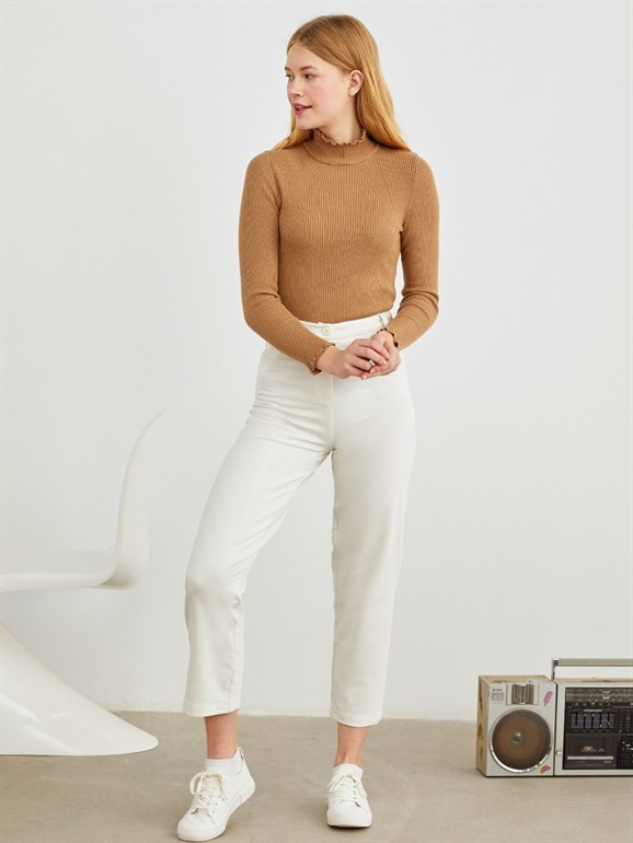 KNITTING TROUSERS WHİTE