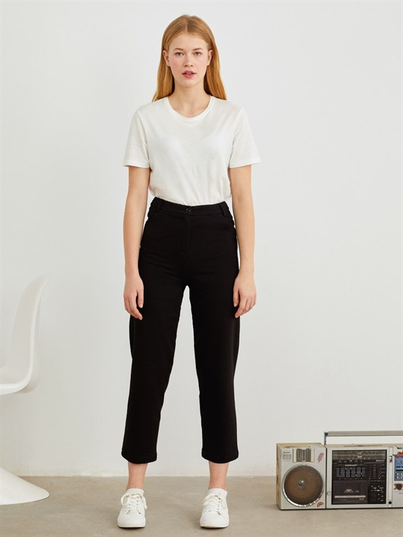 KNITTING TROUSERS BLACK