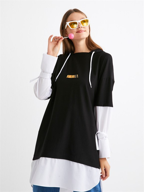 POPLİN SWEAT BLACK