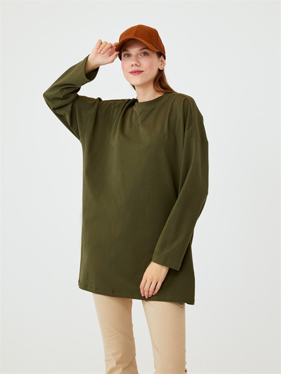LONG SLEEVE BASIC TUNIC GREEN